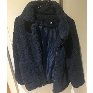 Blue Teddy Style Jacket