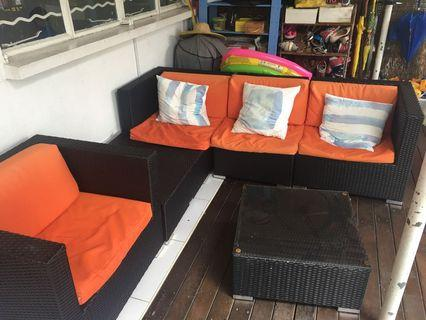 Outdoor Furniture - Sofa, Armchair and coffee table