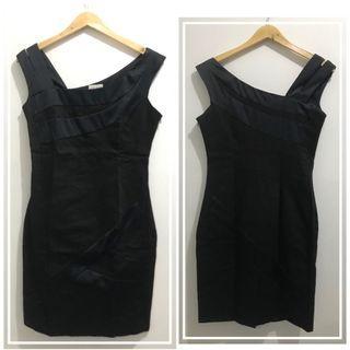 Big Size Black Sleeveless Cocktail Dress