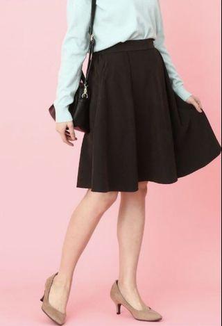 日牌VIS 黑色半身裙