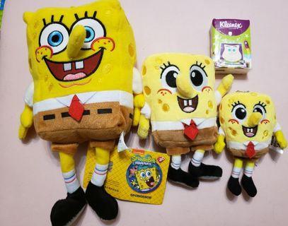 海綿寶寶 SpongeBob 大中小公仔