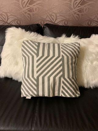 Grey cushion covers