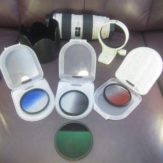 CANON 70-200mm f/2.8L IS USM 送原廠CANON  偏震鏡 CPL再送遮光罩再送三色+三色漸變鏡  $6900