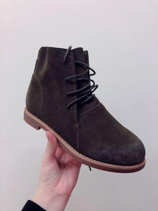 🚚 歐尼鞋櫃裡的棕色麂絨短靴❤️全新