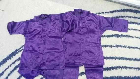 Combo baju melayu purple 1-2 & 3-4