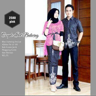 Baju brokat set couple batik