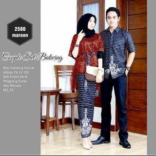 Batik set brokat couple