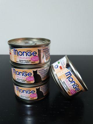 4 New MONGE Cat food