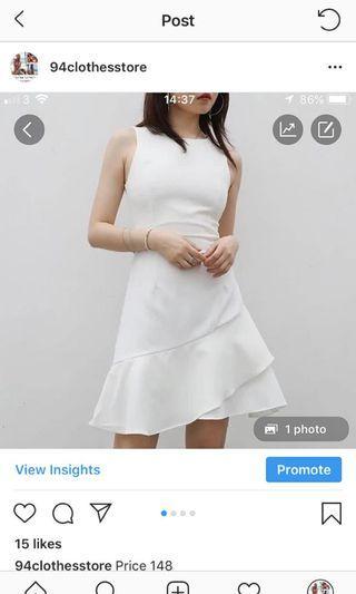 Dress white 背心裙 運動裙褲 斯文裙 romper