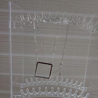 韓國銀色幾何頸鏈