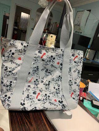Kipling Grey Mickey Mouse HYE Tote Bag