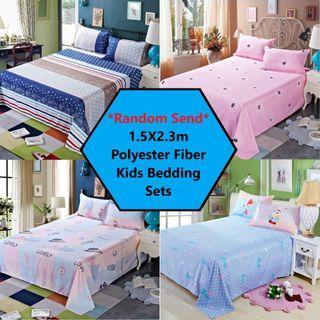 RC-Baby&kids 1.5X2.3m Polyester Fiber Kids BedSheet Super Single Size Cartoon Bed Sheet for Boy/Girl