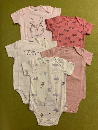 🚚 免運》現貨9-12m 純棉5件組快樂小兔系列包屁衣