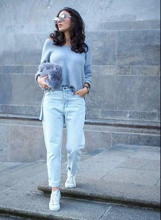 P&B Mom Jeans Light Blue