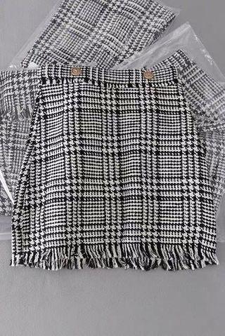 千島格skirt  半截裙 黑白色 skirt m Size stock on hand 現貨