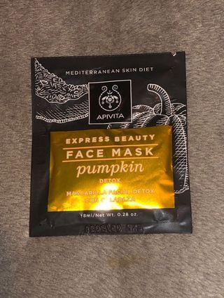 APIVITA Express Beauty Face Mask Pumpkin 南瓜排毒面膜 8ml