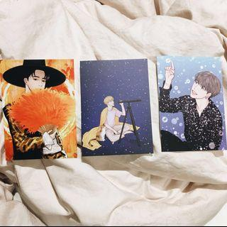 Jimin Fansite Goods — Fanart Postcards