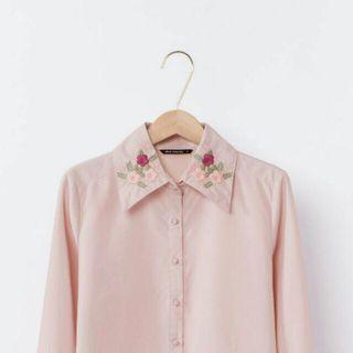 Mercci22 花漾刺繡襯衫