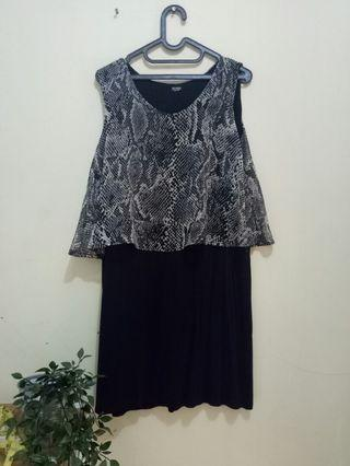 Basic Leopard Black Poshboy Dress