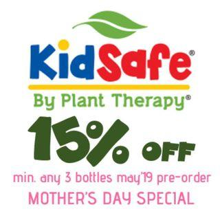 [CLOSED 30 APR 19: All Pre-Orders Locally Sent 6/7 MAY 19] 15% OFF PLANT THERAPY KIDSAFE RANGE MOTHER'S DAY SPECIAL 100% PURE ESSENTIAL OILS MAY 2019 PRE-ORDER