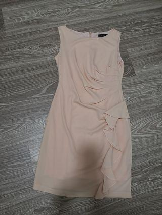 Arrow working peach dress