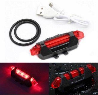 Rechargeable Bicycle Rear Red Light