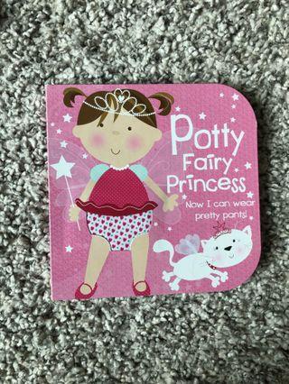 Potty training book for little girl