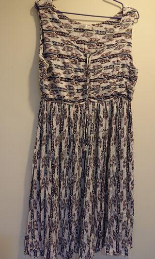 OB嚴選-無袖熱帶風長裙