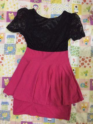 Dress brukat pink