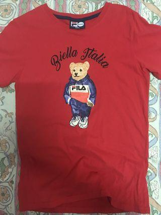 FILA bear tshirt (red)