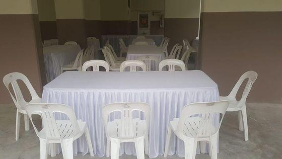 Table and chair rental.