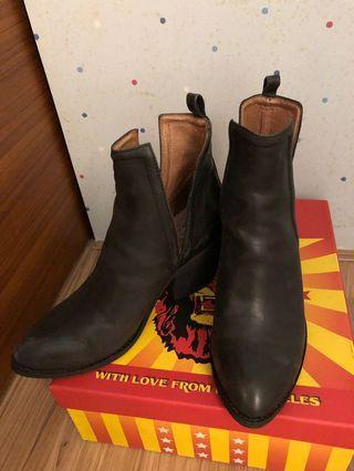Jeffrey Campbell 短靴 皮短靴 皮靴 尖頭靴 低跟靴