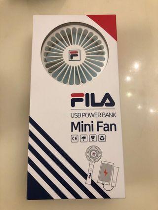 FILA Mini Fan + Portable Power Bank (風扇加充電寶兩用)