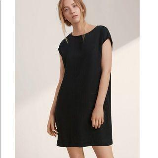 Wilfred Free Nori Dress Faux Suede Black Dress
