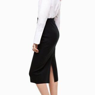 Babaton Johan Black Pencil Skirt