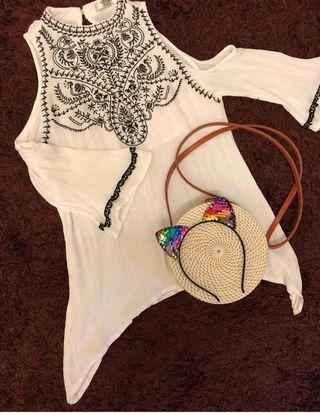 White stylish top