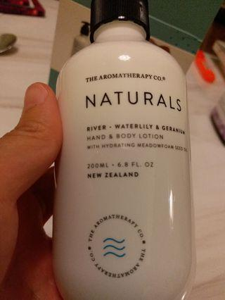 Naturals hand body lotion