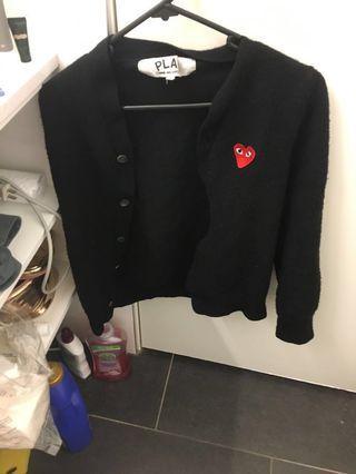 Comme de Garçons play wool jacket