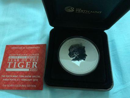 澳洲2010虎年生肖銀幣