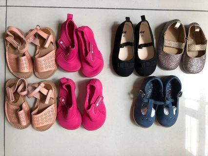 (New & preloved) Baby girl's shoes