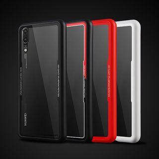 Tempered glass silicon case Huawei P20