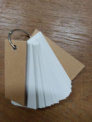 🚚 無印良品 再生紙單字紙卡