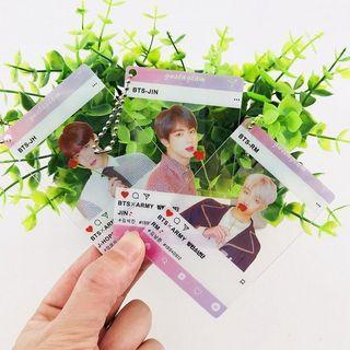 BTS Clear Card Keychain