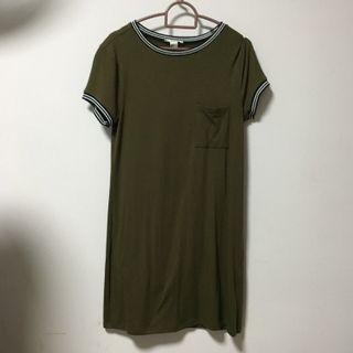 🚚 F21 Dress in Army Green