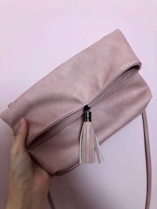 抵抵抵!粉色文青流蘇斜挎包 women's pink bag