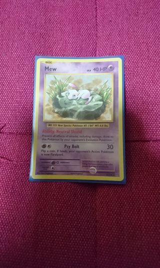 🚚 Pokemon trading card mew