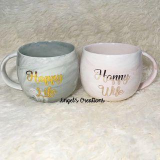 Personalized/Customized Marble Belly Ceramic Mug