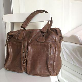 Soda Women's 女士 手提包 返工袋 Shoulder Bag (Brown)
