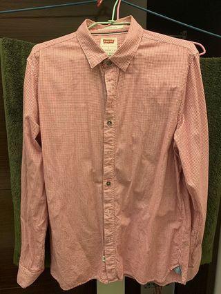 🚚 Levi's 男格紋長袖襯衫