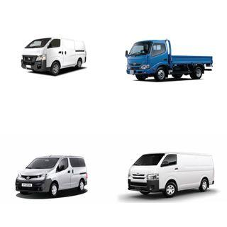 New Commercial Vehicles - Toyota Dyna | Hiace | Nissan NV350 | NV200